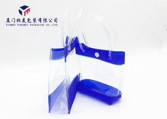 PVC Pipe Carried Handle Plastic Gift Bags Soft PVC Bags With Button Height 15cm