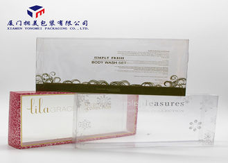 Eco Friendly Custom Printed Plastic Boxes Open From Two Sides Elegant Design