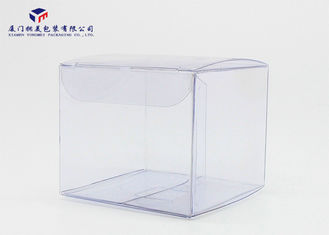 China Soft Edges Clear Plastic Box Packaging Hand - Lock Bottom Reusable 7.2X7.2X6.2cm supplier