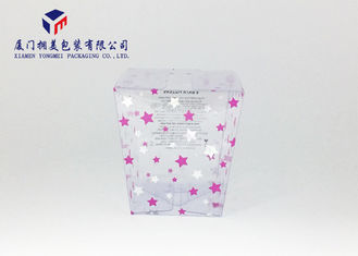 Offset Printing Trapezoid Shape Clear PVC Plastic Retail Packaging Boxes For Gifts