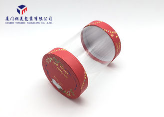 Plastic Cylinder Packaging Tubes Without Printing Hard Paper Top / Bottom Covers