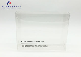 0.3mm PET Plastic Box For Packing Bath Gift Set Side Ends Open 21.5X5.5X17.6cm