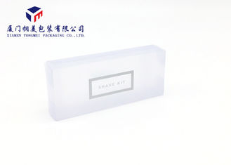 Light Blue Matte PVC Small Clear Plastic Boxes Pack Shave Kit 10.3*2*4.3cm