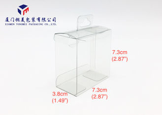 Rectangle Plastic Retail Packaging Boxes For Gifts Hang Strip On Top 7.3cm Height