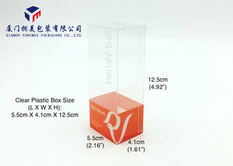 Rectangle Shape Hard Plastic Box Packaging For Keyring Clear PET Box 12.5cm Height