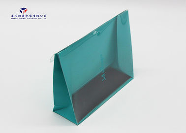 China 0.25 - 0.4mm Thickness Custom Plastic Box Packaging Paper Box With Clear Plastic Front factory