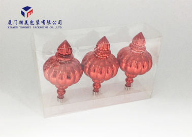 China Super Clear PET Material Custom Clear Plastic Box Side Ends Open For Red Lanterns factory