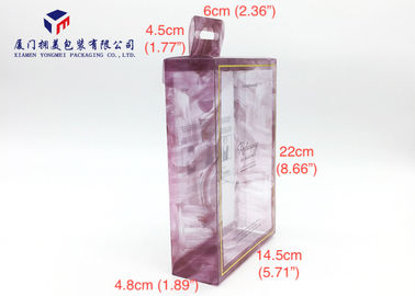 China Rectangle PET Plastic Box Hang Strip On Top Of Box Offset Printing 22cm Height factory