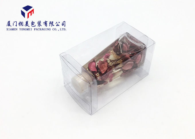 Two Inside Trays Rectangle Shape Clear Plastic Box Packging For Fragrance
